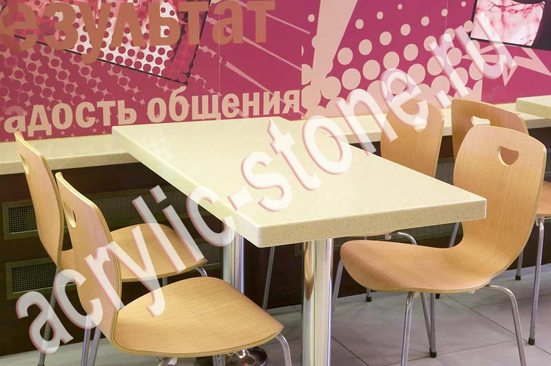 Стол на заказ из искусственного камня lg hi-macs - фото, опи.